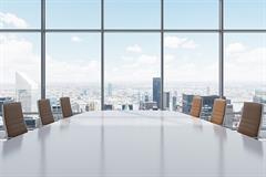 Conference boardroom news block